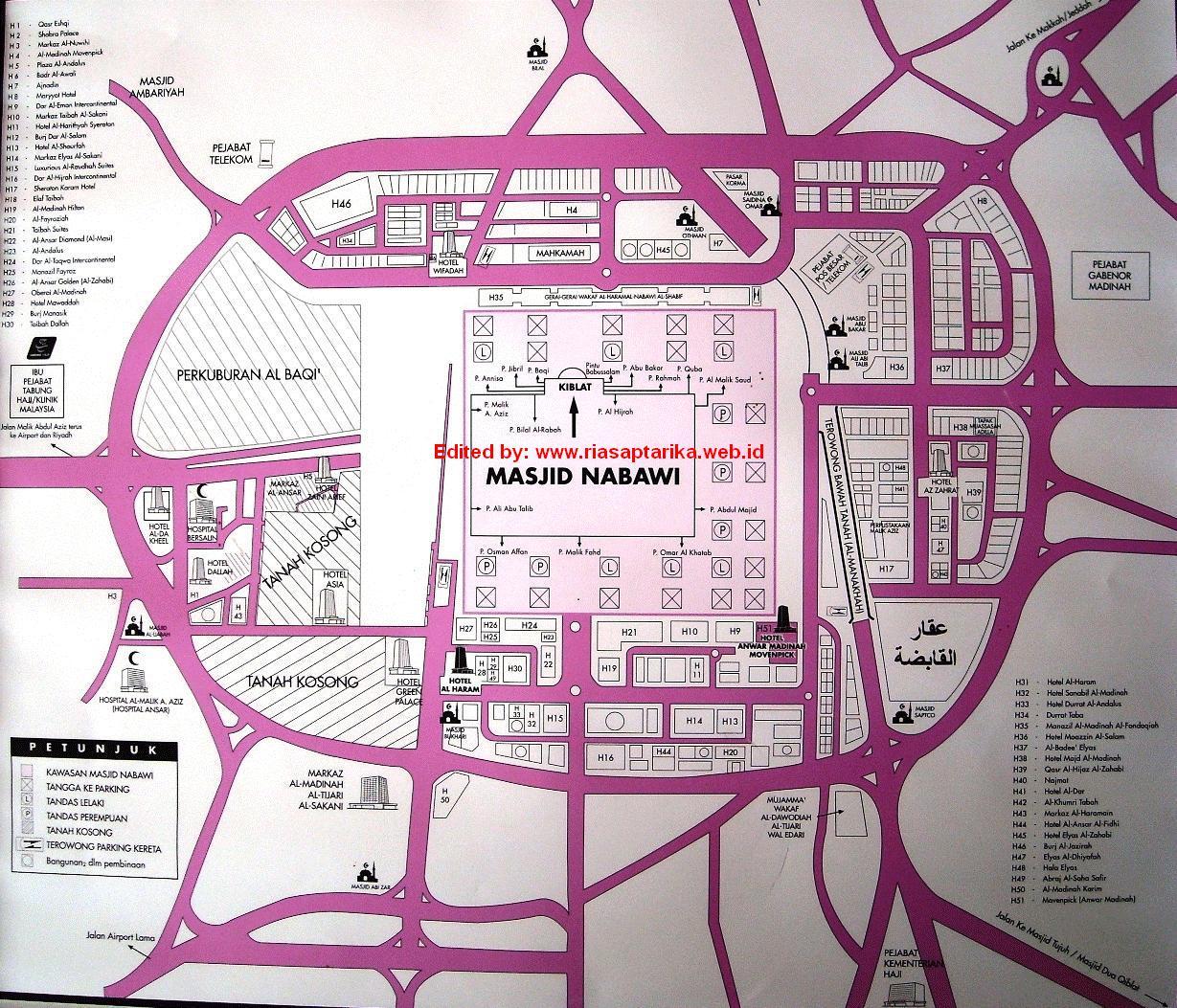 Peta Lengkap Kota Madinah Amp